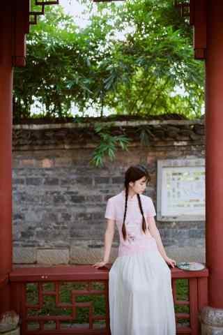 旗袍—清纯可爱的少女手机壁纸
