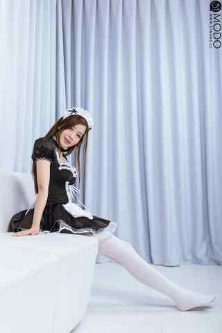 女仆装—性感长腿妹抖手机壁纸