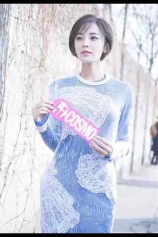 古力娜扎甜美时尚街拍手机壁纸