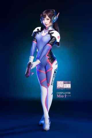 守望先锋D.VA美女cosplay手机壁纸