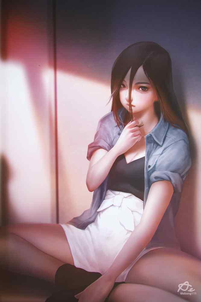好看的手绘美女高清手机壁纸