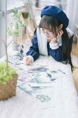 小清新咖啡馆画画