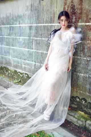 张馨予超美纱裙街拍手机壁纸