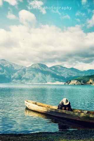 小清新泸沽湖风景手机壁纸