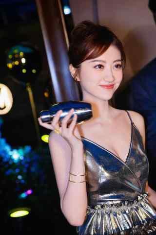 景甜性感迷人(ren)吊帶長裙手機壁紙