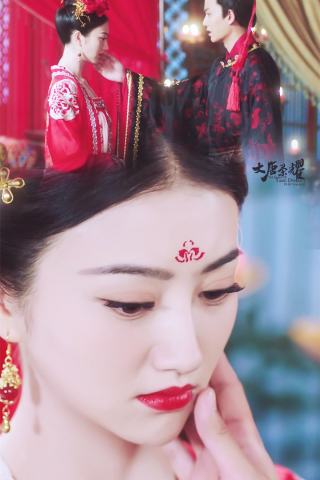大唐(tang)榮耀景甜沈(shen)珍珠婚嫁劇(ju)照(zhao)