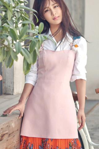 杨紫粉色衣裙唯美写真手机壁纸