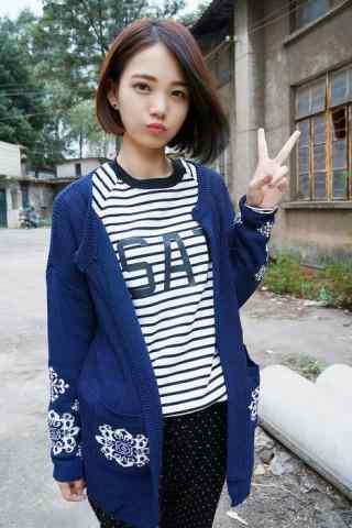 清純(chun)短發(fa)美(mei)女手機(ji)壁紙