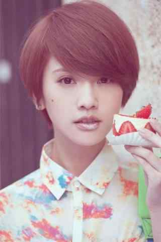 美女杨丞琳甜美可爱写真手机壁纸