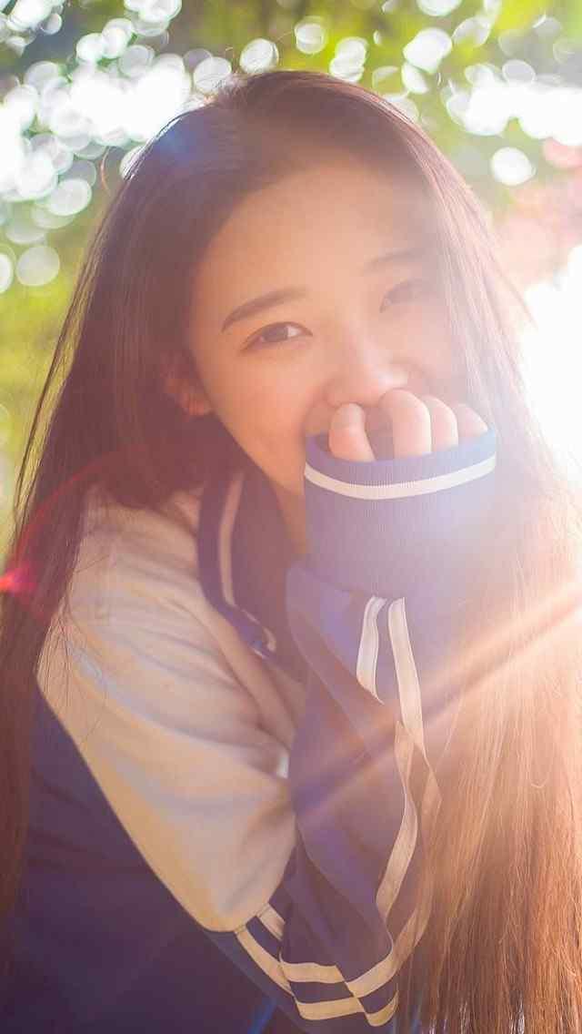 美女手机壁纸清纯可爱校服美女清纯美女天使笑容
