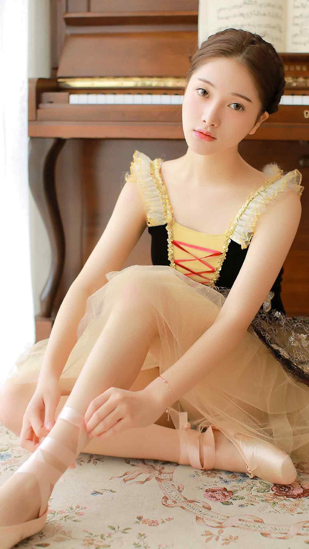 性感美女图片素材芭蕾女孩唯美写真高清手机壁纸