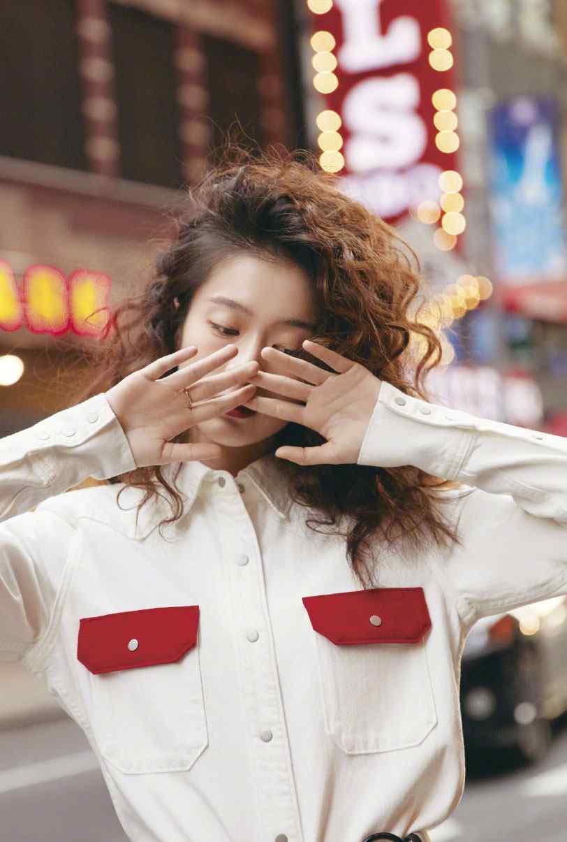张雪迎欧美范时尚杂志写真