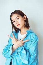 苏青休闲蓝衬衫清新可爱写真高清手机壁纸