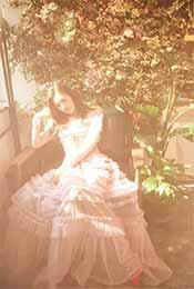 黄昏下的朦胧安悦溪超清唯美手机壁纸图片