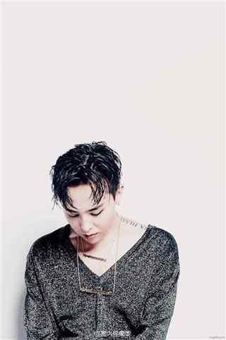 权志龙G-DRAGON杂志拍摄低领毛衣手机壁纸