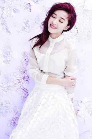 阚清子时尚拍摄优雅俏皮紫色手机壁纸