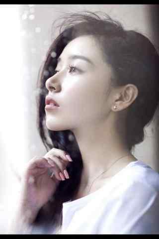 阚清子唯美白色纯洁侧脸优雅手机壁纸