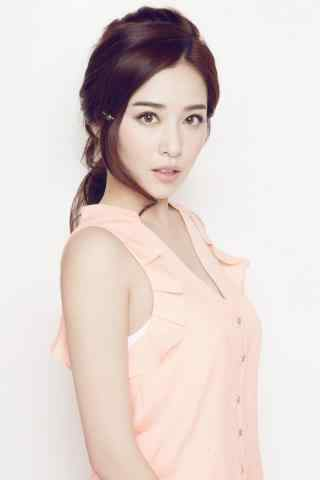 阚清子粉色礼服可爱大方手机壁纸