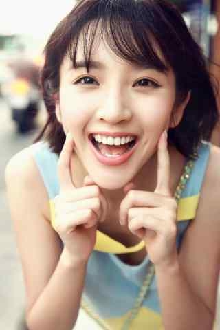 唐艺昕可爱夏日甜美笑容手机壁纸
