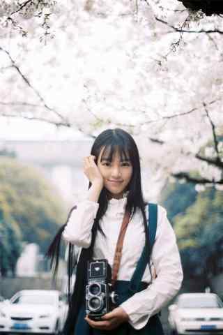 武大女神黄灿灿甜美写真图片手机壁纸
