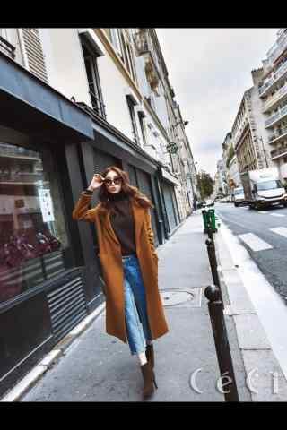 李圣经时尚街拍写真图片手机壁纸