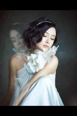 秦岚唯美白衣写真手机壁纸第二辑