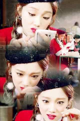 韩国美女模特李圣经表情头像图片手机壁纸