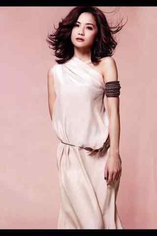 蔡卓妍唯美白衣写真图片手机壁纸