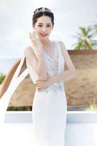 郭碧婷清新唯美婚纱写真图片手机壁纸