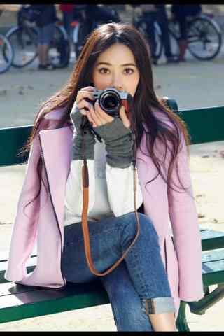 美女明星郭碧婷街拍图片手机壁纸