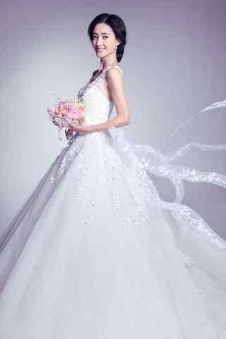 王丽坤唯美婚纱写真手机壁纸