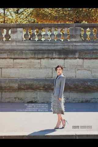 王丽坤时尚杂志图片手机壁纸 二