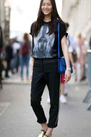 刘雯时尚街拍手机