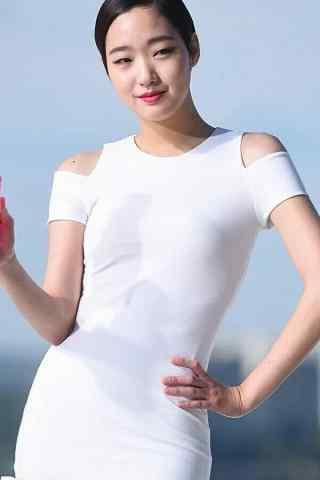 金高银短发紧身长裙性感手机壁纸
