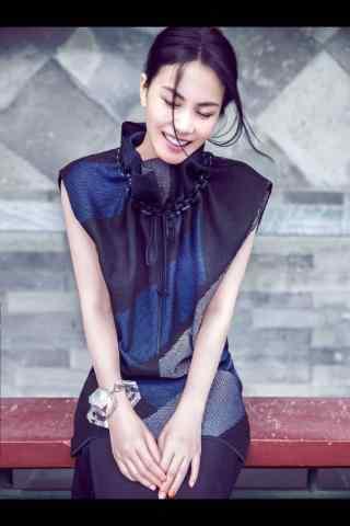 王菲娇羞表情时尚写真美拍图片手机壁纸