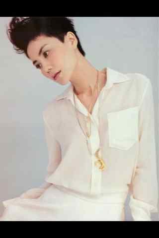 王菲时尚白色衬衫帅气造型图片手机壁纸