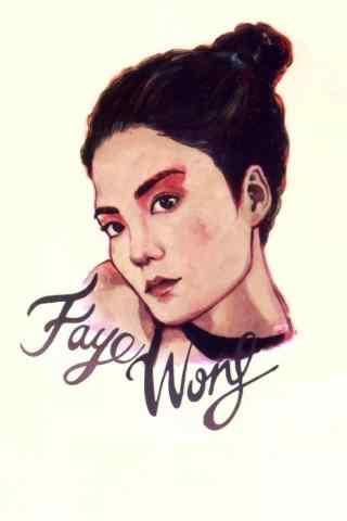 王菲个性手绘海报图片高清手机壁纸