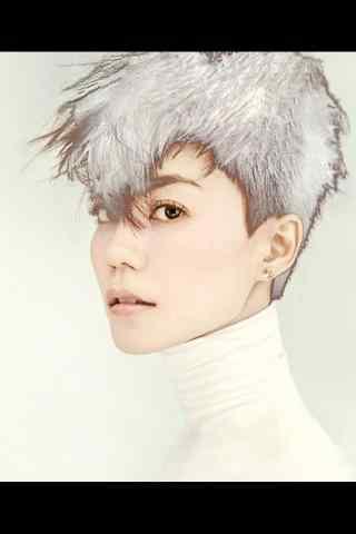 王菲个性时尚写真简约图片手机壁纸