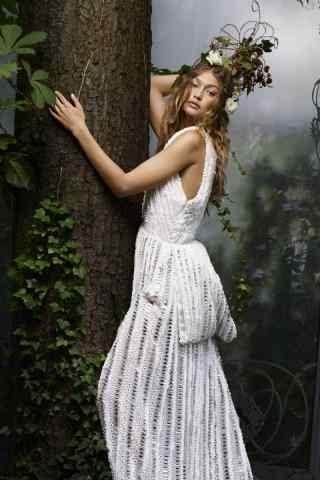 gigi白色长裙唯美写真图片