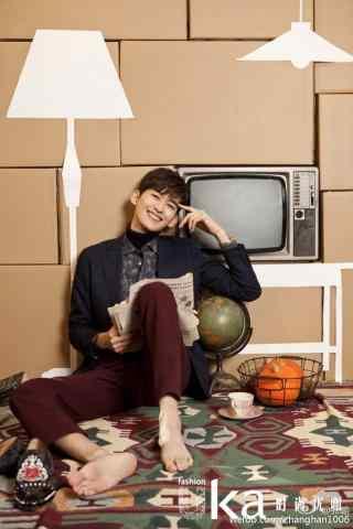 张翰时尚杂志拍摄手机壁纸