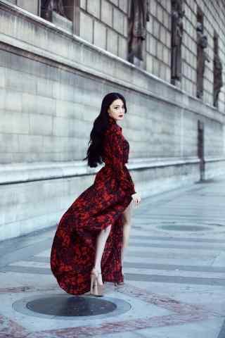 时尚长腿张馨予街
