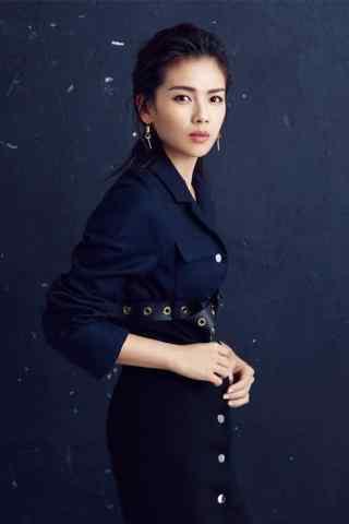 刘涛时尚黑色写真手机壁纸
