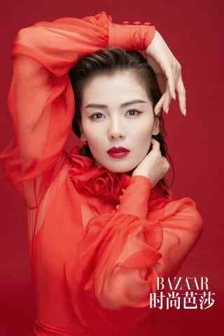 刘涛时尚红色性感