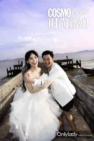 吴京谢楠时尚婚纱照图片