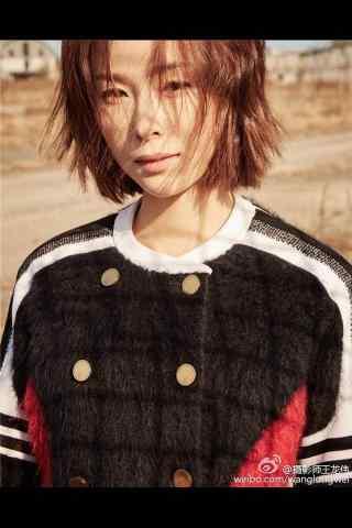 江一燕短发时尚写真手机壁纸
