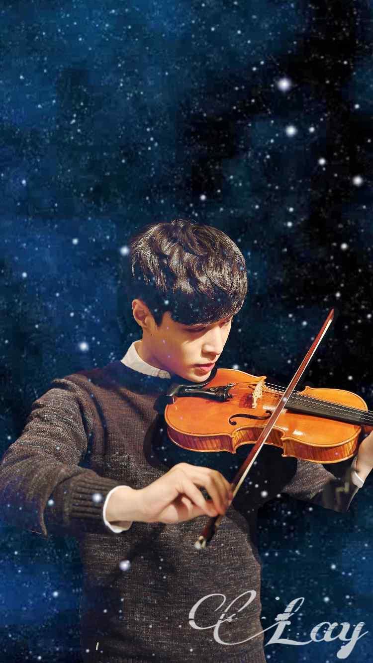 EXO张艺兴lay帅气拉小提琴高清手机壁纸