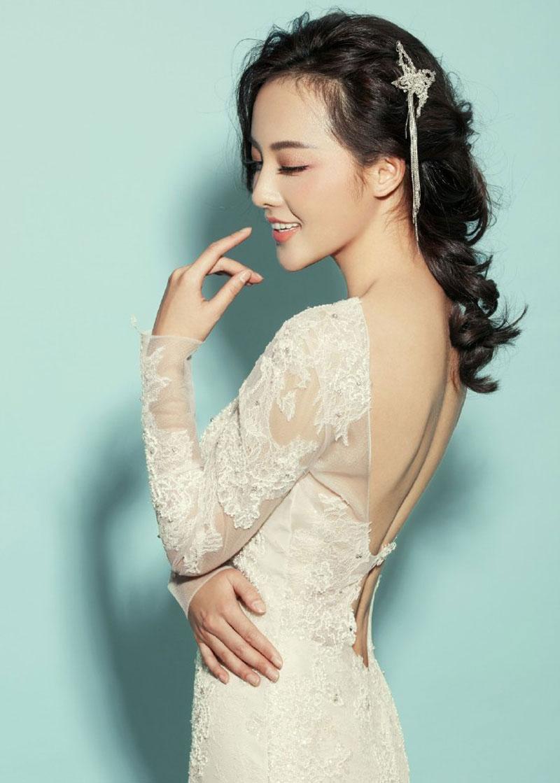 张嘉倪性感婚纱写真图片