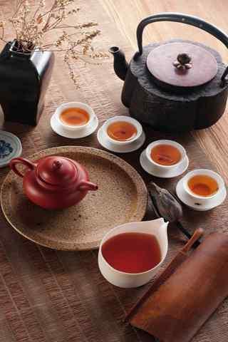 手机茶文化壁纸:煮