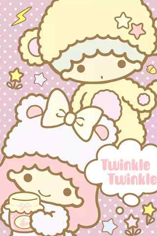 超萌可爱双子宝宝双子座手机星座壁纸