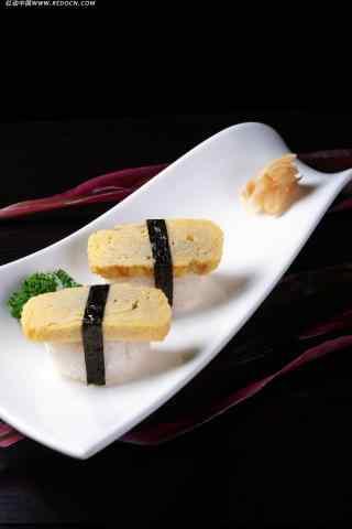 寿司厚蛋烧寿司手机壁纸